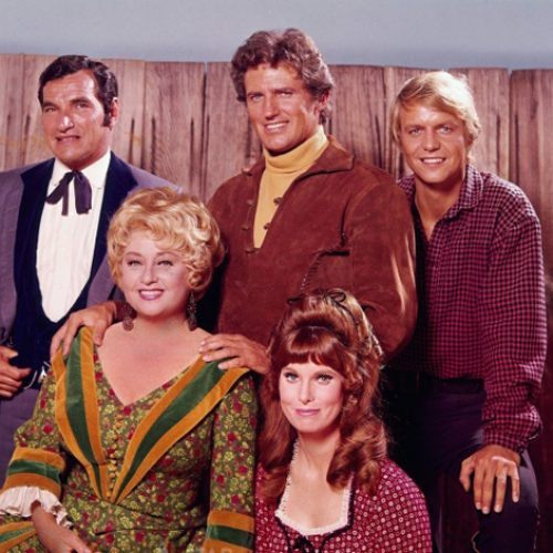 Mark Lenard, Robert Brown, David Soul, Joan Blondell, and Bridget Hanley • Here Come the Brides