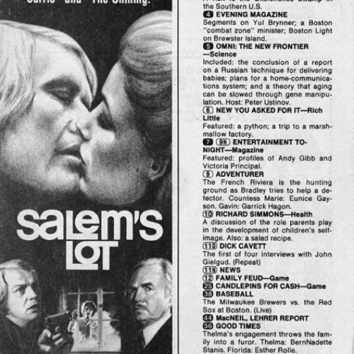 David Soul • TV Guide Advertisement • Salem's Lot