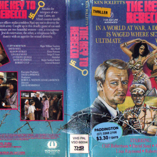David Soul • VHS Cover • The Key to Rebecca