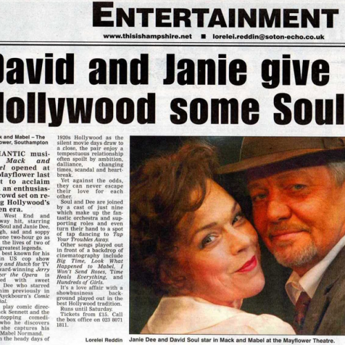 David Soul • Newspaper Article • Mack and Mabel