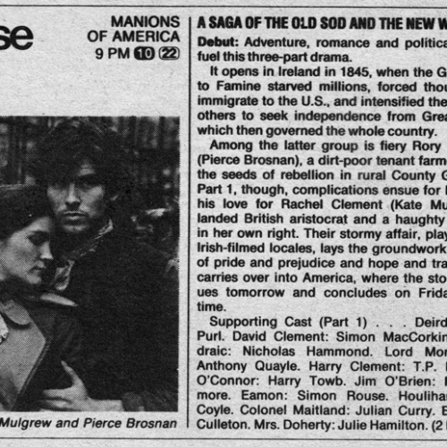 TV Guide Advertisement • The Manions of America