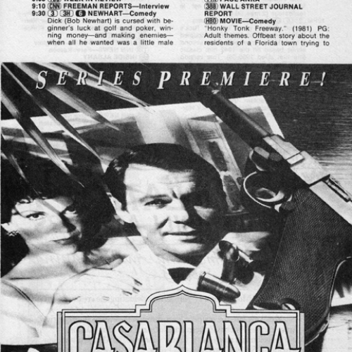 David Soul • TV Guide Advertisement • Casablanca