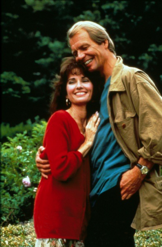Susan Lucci and David Soul in 'The Bride in Black'