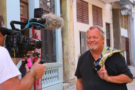 David Soul on location in Cuba