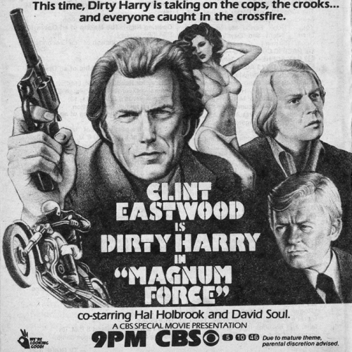 TV Guide Advertisement • Magnum Force