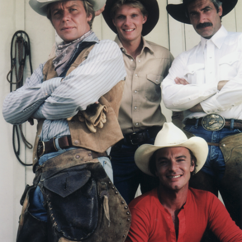 David Soul, Tom Schanley, Sam Elliott, and Edward Albert • The Yellow Rose